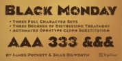 Black Monday font download