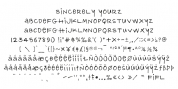 Sincerely Yourz font download