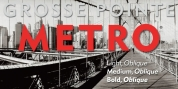 Grosse Pointe Metro font download