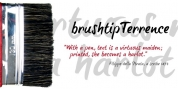 brushtipTerrence font download