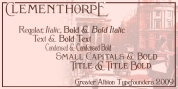 Clementhorpe font download