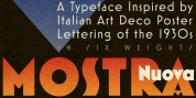 Mostra Nuova font download