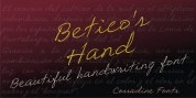 Betico's Hand font download