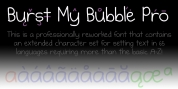 Burst My Bubble Pro font download