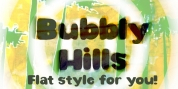 Bubbly Hills font download