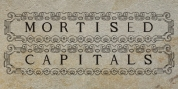 Mortised Capitals font download