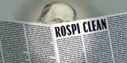 Rospi Clean and Retro font download