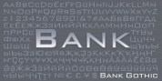 Bank Gothic font download