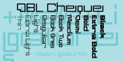 DBL Cheque font download