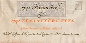1741 Financiere font download