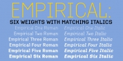 Empirical font download
