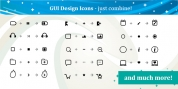 GUI Design Icons font download
