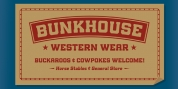 Bunkhouse font download