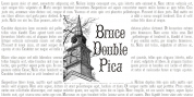 Bruce Double Pica font download