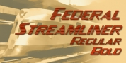 Federal Streamliner font download