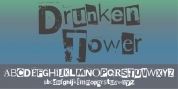 Drunken Tower font download