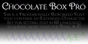 Chocolate Box Pro font download