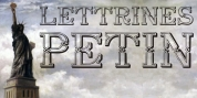 Lettrines Petin font download