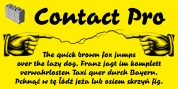 Contact Pro font download