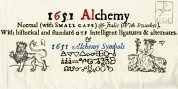 1651 Alchemy font download