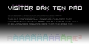 Visitor BRK Ten Pro font download