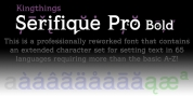 Kingthings Serifique Pro font download