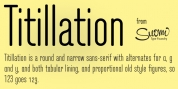 Titillation font download