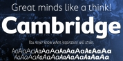 Cambridge font download
