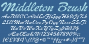 Middleton Brush font download