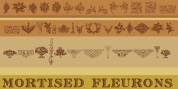 Mortised Fleurons font download