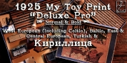 1925 My Toy Print Deluxe Pro font download