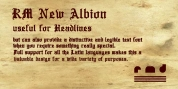 RM New Albion font download