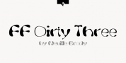 FF Dirty Three font download