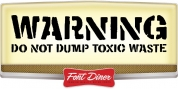 WARNING font download