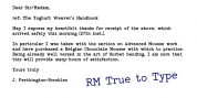 RM True To Type font download