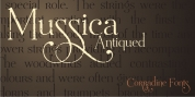 Mussica Antiqued font download
