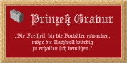 Prinzess Gravur font download