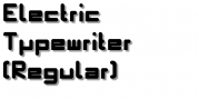 Electric Typewriter font download