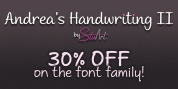 Andrea's Handwriting II font download