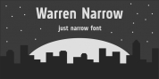 Warren Narrow font download