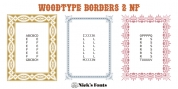 Woodtype Borders 2 NF font download