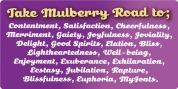 Mulberry Road font download