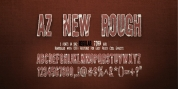 AZ New Rough font download