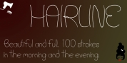 Hair Line font download