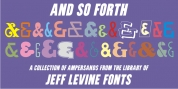 And So Forth JNL font download