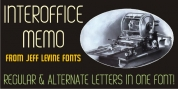 Interoffice Memo JNL font download