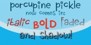 Porcupine Pickle font download