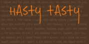 Hasty Tasty font download