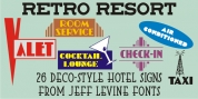 Retro Resort JNL font download