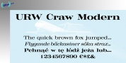 Craw Modern font download